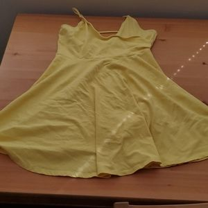 Forever21 yellow strappy sun dress Large
